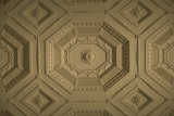 Plasterwork ceiling in the Long Gallery at Croome Court, Croome Park, Worcestershire