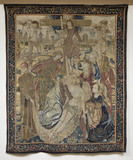The Descent from the Cross, Brussels tapestry woven c.1500-1510, in the Hall Chamber at Montacute House, Somerset.