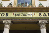 The name above the entrance to The Crown Bar, Great Victoria Street, Belfast