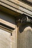Architectural detail on the Palladian Chapel, begun in 1760 to the design of James Paine, at Gibside, Newcastle upon Tyne