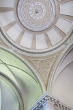 The domed ceiling of the Palladian Chapel, begun in 1760 to the design of James Paine, at Gibside, Newcastle upon Tyne