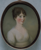 SALVINA HENDY, MRS GEORGE GIBBS, a miniature by James Leakey, 1802