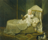 GERARD ANNE EDWARDS IN HIS CRADLE by William Hogarth (1697-1764)