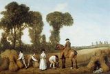THE REAPERS by George Stubbs ARA (1724-1806) Signed and dated 1783
