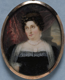 MARY ALBINIA PAGE, LADY CRAWLEY-BOEVEY a miniature of the British School, c.1830