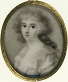 AGNES HAMILTON, MRS JOHN PALMER CHICHESTER (?) portrait miniature attributed to Andrew Plime