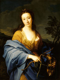 SARAH LETHIEULLIER, LADY FETHERSTONHAUGH by Pompeo Batoni (1708-1787) signed and dated 1751 (Rome)