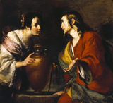 CHRIST AND THE WOMAN OF SAMARIA by Bernardo Strozzi (1581-1644) from Kedleston Hall