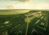 BIRDS EYE VIEW OF DUNHAM MASSEY FROM THE SOUTH-EAST c1750 by John Harris