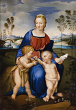 MADONNA AND CHILD WITH ST JOHN AND A GOLDFINCH a miniature after Raphael, early nineteenth c