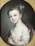 MARIA RICE, (born 1773, married 1796) a pastel by John Russell (1745-1806)