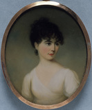 JOANNA GIBBS, a miniature by James Leakey, 1802