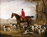 HUNTING SCENE by R. B. Davis at The Vyne. Photographed after conservation.