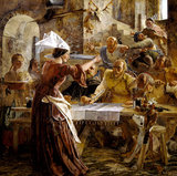 THE SPUR IN THE DISH by William Bell Scott (1811-1890)