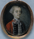CAPTAIN JOHN WOODWARD a miniature of the British School, c.1760, at Tyntesfield, North Somerset. TYN/53