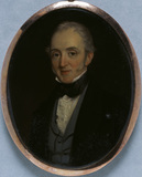WILLIAM GIBBS a miniature by George Hughes, 1850, at Tyntesfield, North Somerset. TYN/40