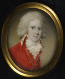 COLONEL JOHN PALMER CHICHESTER portrait miniature attributed to Philip Jean, c.1790. Arlington Court, Devon. NT miniatures Catalogue number: ARL 2NT Inventory number: ARL/P/49