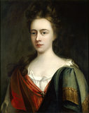 PORTRAIT OF MRS ABIGAIL THORNTON, c.1690 in the style of Michael Dahl, painting is hanging in the Library.