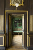 The Green Closet seen through a dorrway from the Long gallery at Ham House, Richmond-upon-Thames