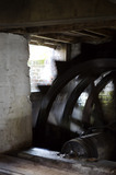 The waterwheel turning at C18th Winchester City Mill, Hampshire