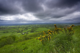 Stormy skies over the Blackmore Vale from Melbury Hill (National Trust), near Shaftesbury, Dorset