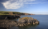The view looking east from the entrance to Stackpole Quay on the Stackpole Estate, Pembrokeshire, Wales