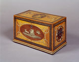 Large satinwood tea-caddy (late C18th)