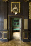 The Green Closet, seen through the doorway from the Long Gallery at Ham House, Richmond-upon-Thames