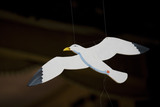 A prop seagull used in the production of Black Eyed Susan at the Theatre Royal, Suffolk, a restored Georgian theatre built in 1819 and still in use today