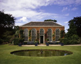 The Orangery at Dunham Massey, seen across the round pond