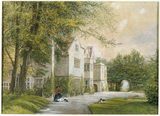 C19th WATERCOLOUR OF BENTHALL HALL