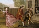PAMELA FLYING TO THE COACH,WHILE LADY DAVERS SENDS 2 OF HER FOOTMEN TO STOP HER