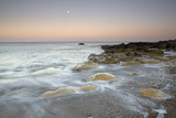 Moonrise at Trow Point, The Leas, South Tyneside