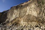 Landslip on the cliffs at Marsden Bay, The Leas, South Tyneside