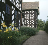 The exterior of Little Moreton Hall, with Elizabethan wood and plasterwork