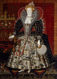 QUEEN ELIZABETH I, Studio of Nicholas Hilliard