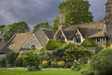 The West wing of the fifteenth-century Great Chalfield Manor, Wiltshire seen from across the garden