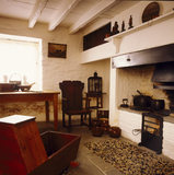 View from the bed towards the window and hearth at George Stephenson's birthplace where he was born in 1781