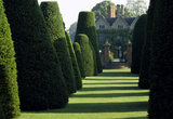 View from the Yew Garden towards Packwood House, Warwickshire