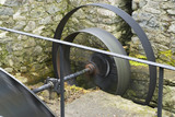 The flywheel for the waterwheel at Llanerchaeron, Ceredigion, Wales, which served the estate