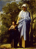 THE VIRGIN AND ST ANNE by Adam Elsheimer (c1578-1610) from Petworth House