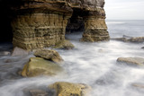 Caves and rock buttresses under Marsden Rock, Marsden, The Leas, South Tyneside