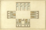 ARCHITECTURAL PLANS OF THE HOUSE: THE LIBRARY, by George Stewart in the West Passage at Attingham Park
