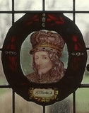 King Charles I, one of four roundels of painted glass from the Oak Room at Wightwick Manor