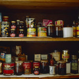 View of the Store Cupboard on the second floor landing of Mr Straw's House