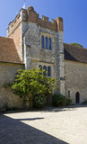 The Gatehouse Tower from the Courtyard at Ightham Mote, Sevenoaks, Kent, a fourteenth-century moated manor house