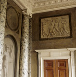 The grisailles in the Entrance Hall at Attingham Park