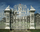 The magnificent wrought-iron gate at Chirk Castle