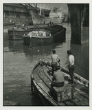 Men Towing Barges