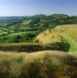 View of the Malvern Hills looking north from the British camp